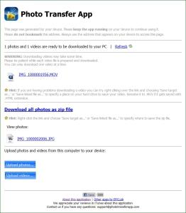 Photo Transfer App