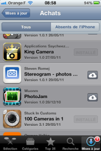 iCloud dans l'App Store