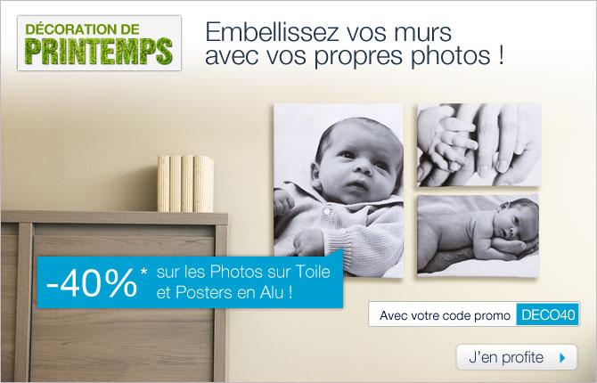 Smartphoto promo 40% alu et toile